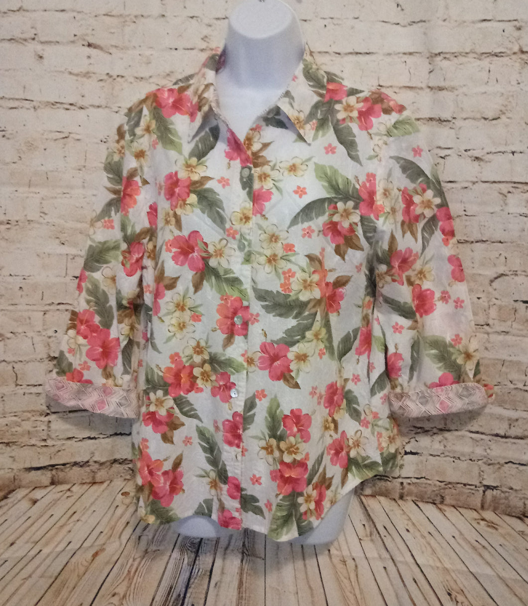Alfred Dunner Cotton Top Size 14 - Anna's Armoire