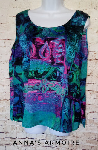 City Girl Sleeveless Top Size L - Anna's Armoire