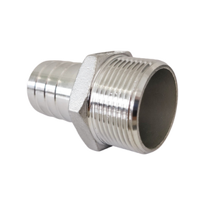 Stainless steel hose nozzle with male thread
