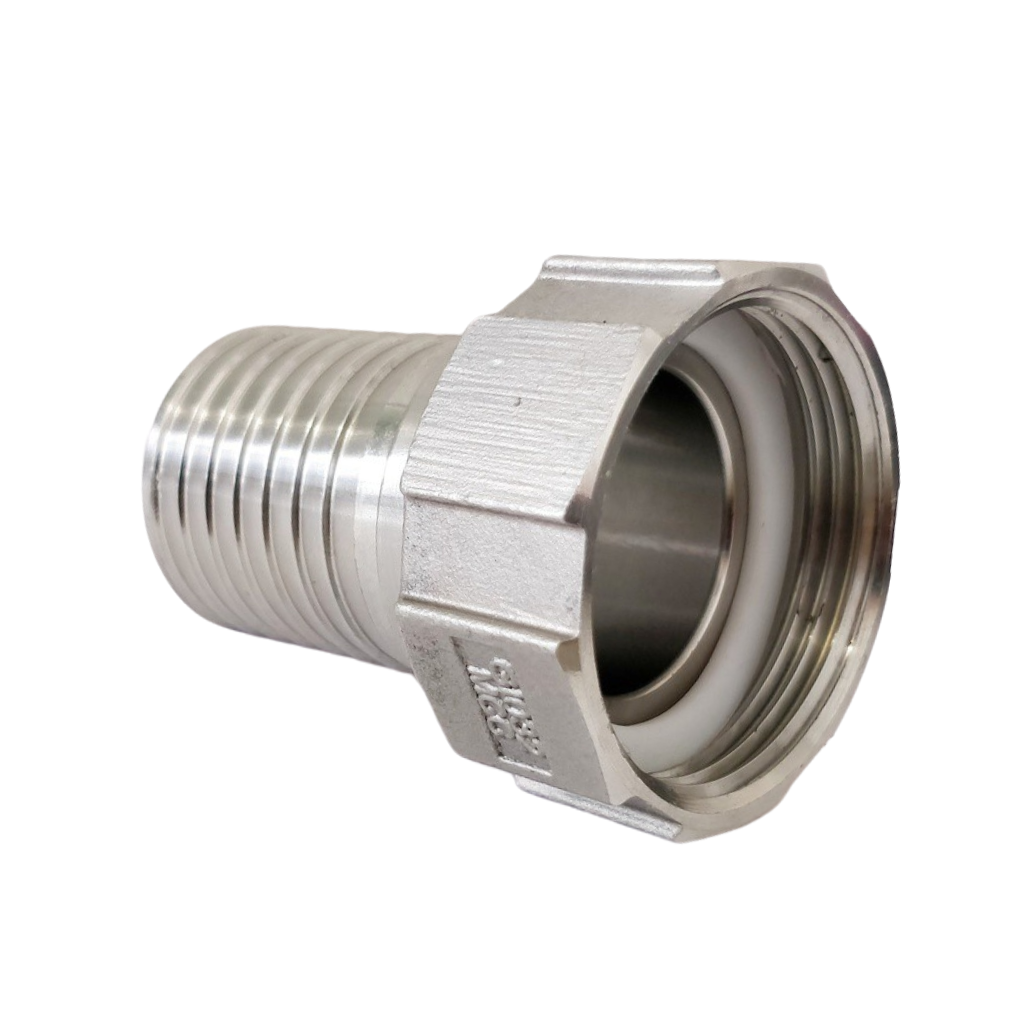 Stainless steel hose nozzle with female thread