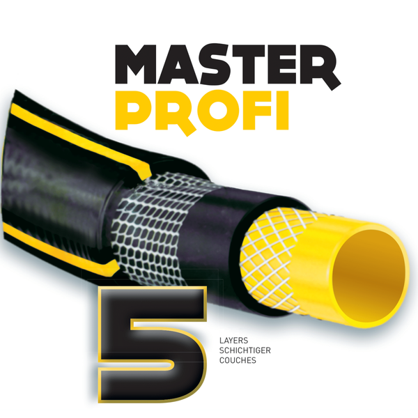 "5-layer garden hose 25m 1/2"" kink and twist free MASTER PROFI"