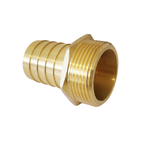 Brass hose nozzle with male thread