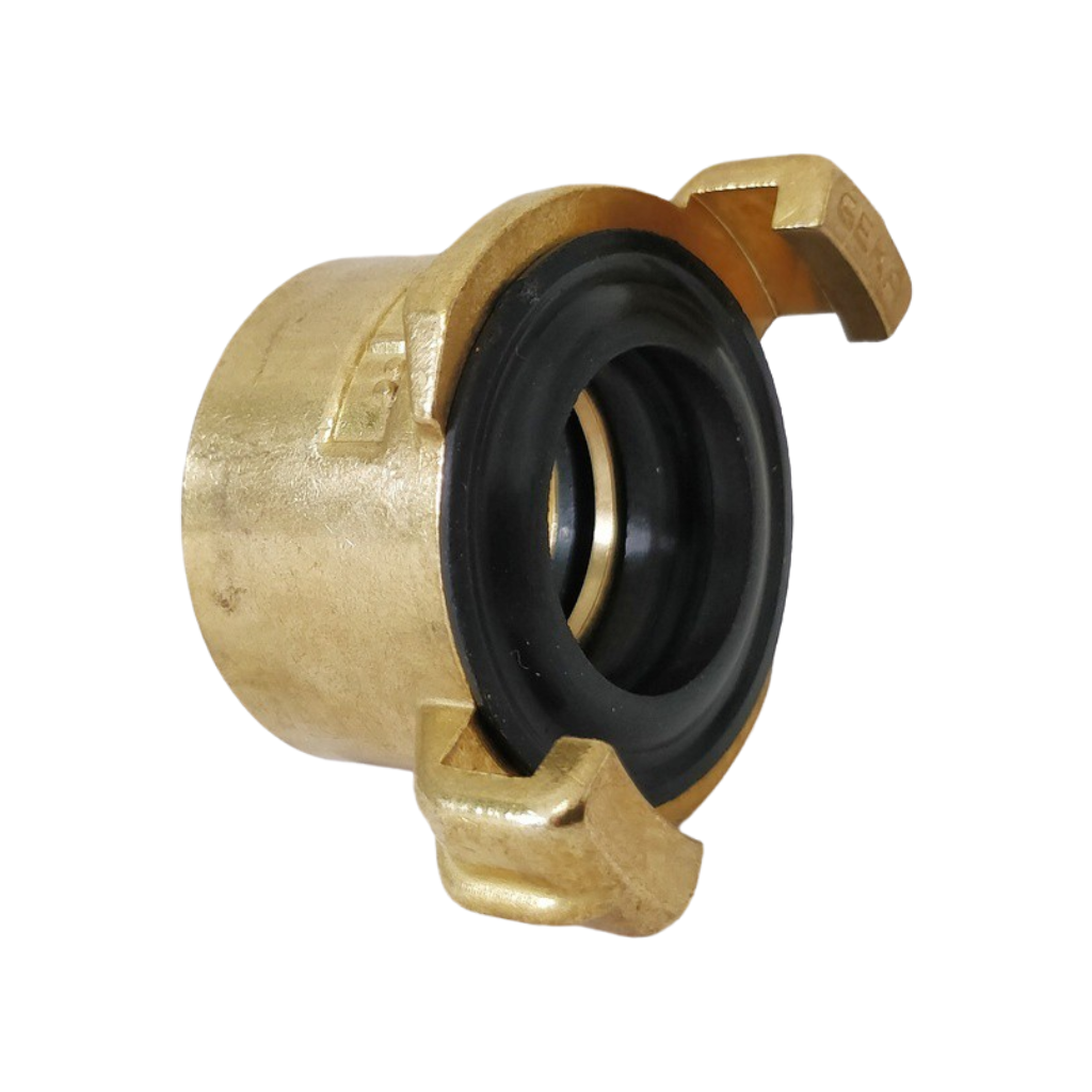 Brass claw coupling with female thread