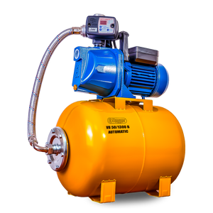 VB 25/1300 B Domestic waterwork, with INOX steel impeller, 1300 W, 5,400 l/h, 4,7 bar, 25 L