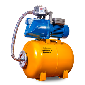VB 25/1500 B Domestic waterwork, with INOX steel impeller, 1500 W, 6,300 l/h, 4,8 bar, 25 L