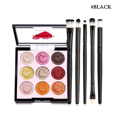 Makeup Set Including Professional Eyeshadow Palette and Brushes