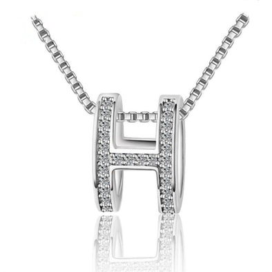 925 Sterling Silver & Zirconia Necklace