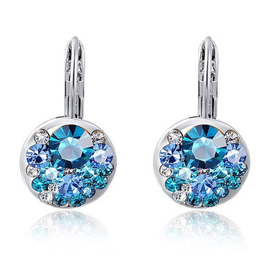 Round Zircon Crystal Bijoux Earrings
