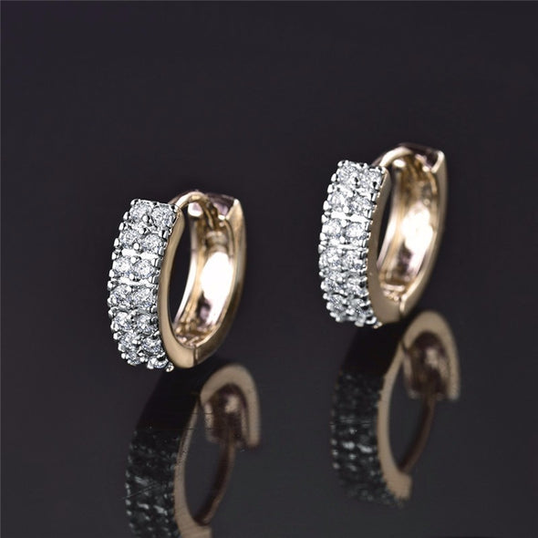 Vintage Crystal Earrings Infinity