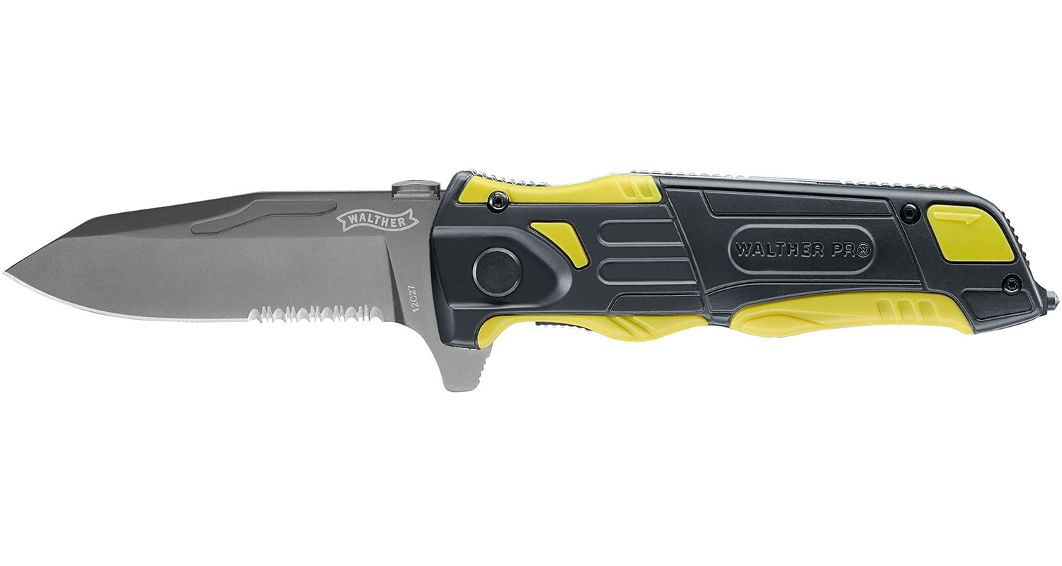 Walther Pro Rescue Pro Yellow Knife - Frontier Outdoors