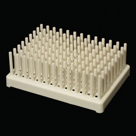 Peg test tube rack-white
