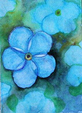 Forgetmenots card