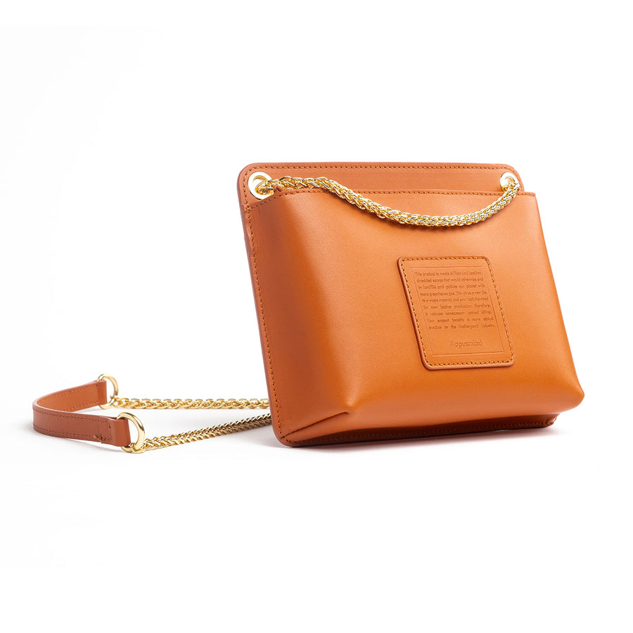 Chain Zip Crossbody - Stone