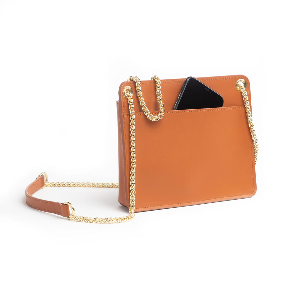 Chain Zip Crossbody - Moss