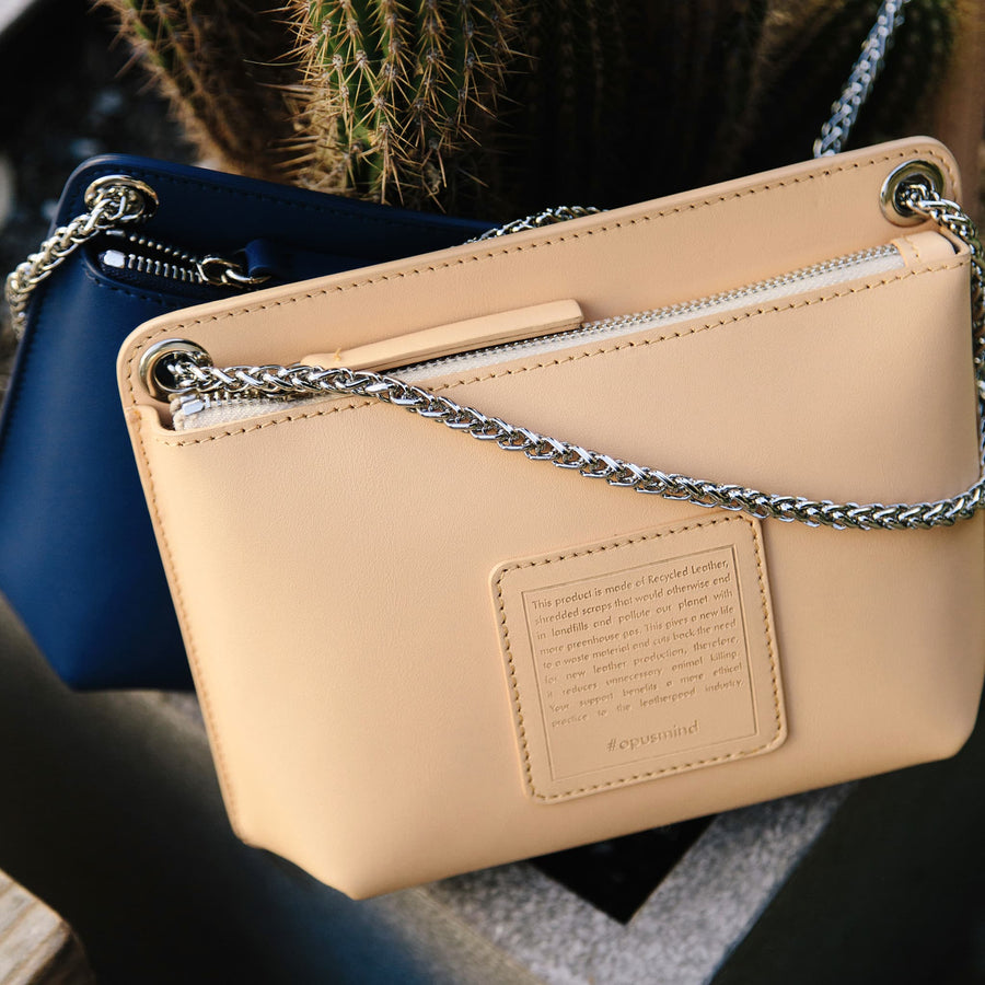 Chain Zip Crossbody - Millennial