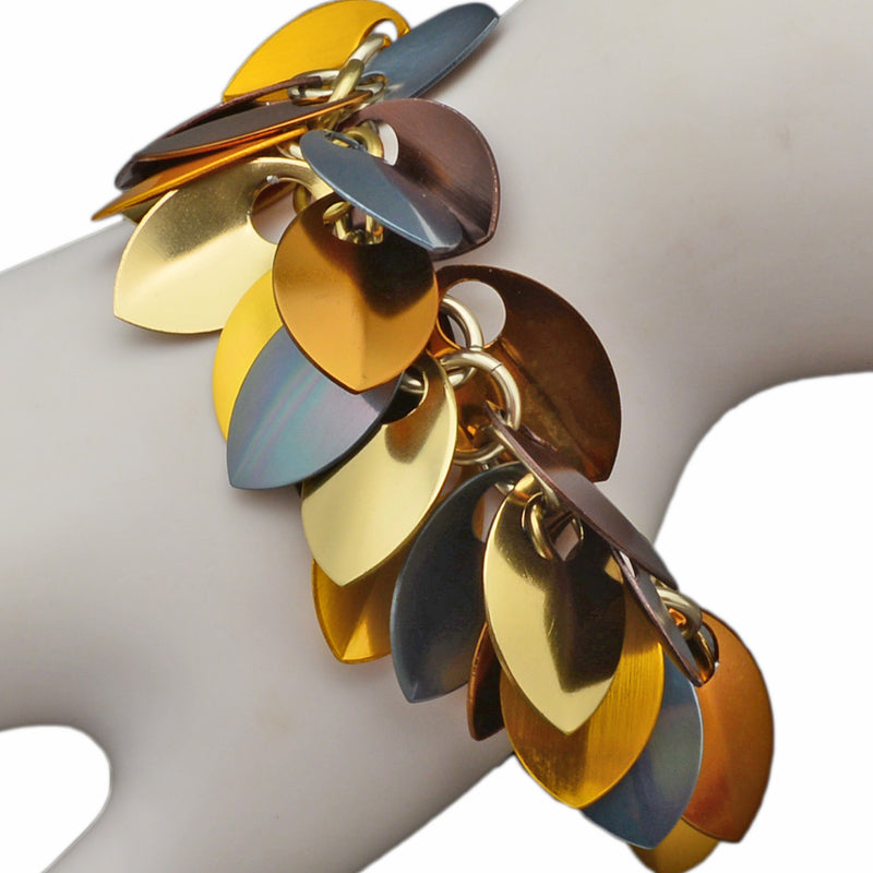 Leaves Bracelet - Brown Metallic
