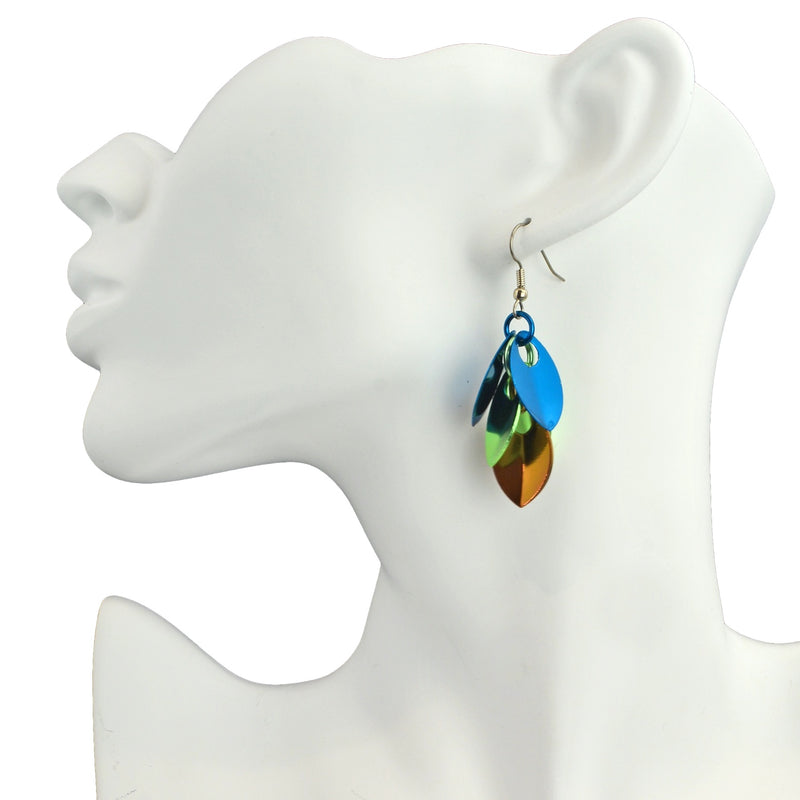 Cascading Leaves Short Earrings - Magical Woodland