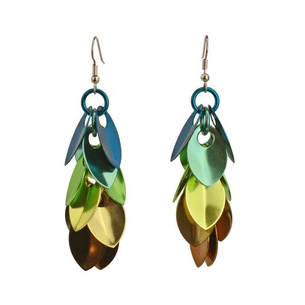 Cascading Leaves Long Earrings - Magical Woodland