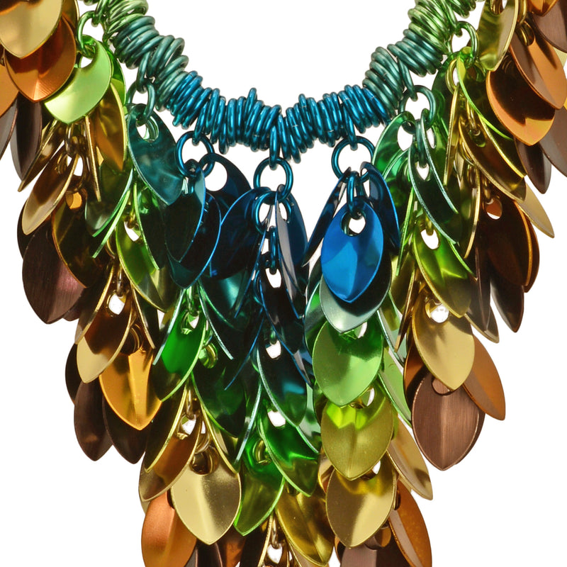 Cascading Leaves Bib Necklace - Magical Woodland