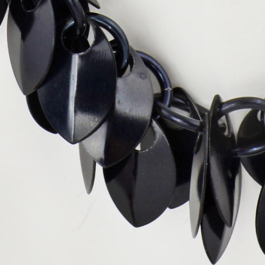 Cascading Leaves Necklace - Black