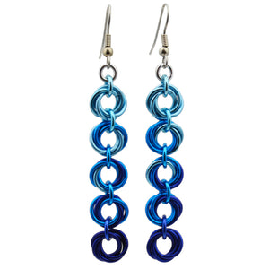 5-Knot Earrings - Chicago Blues
