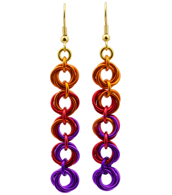 5-Knot Earrings - Sunset
