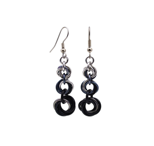 Knotted Graduated Earrings - Industrial