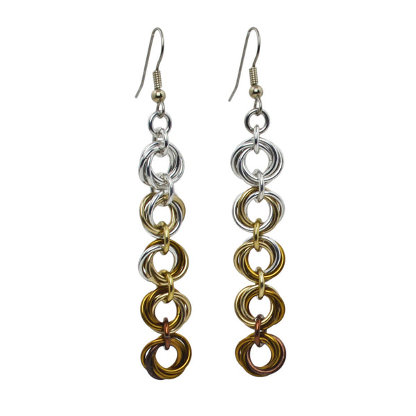 5-Knot Earrings - Granite