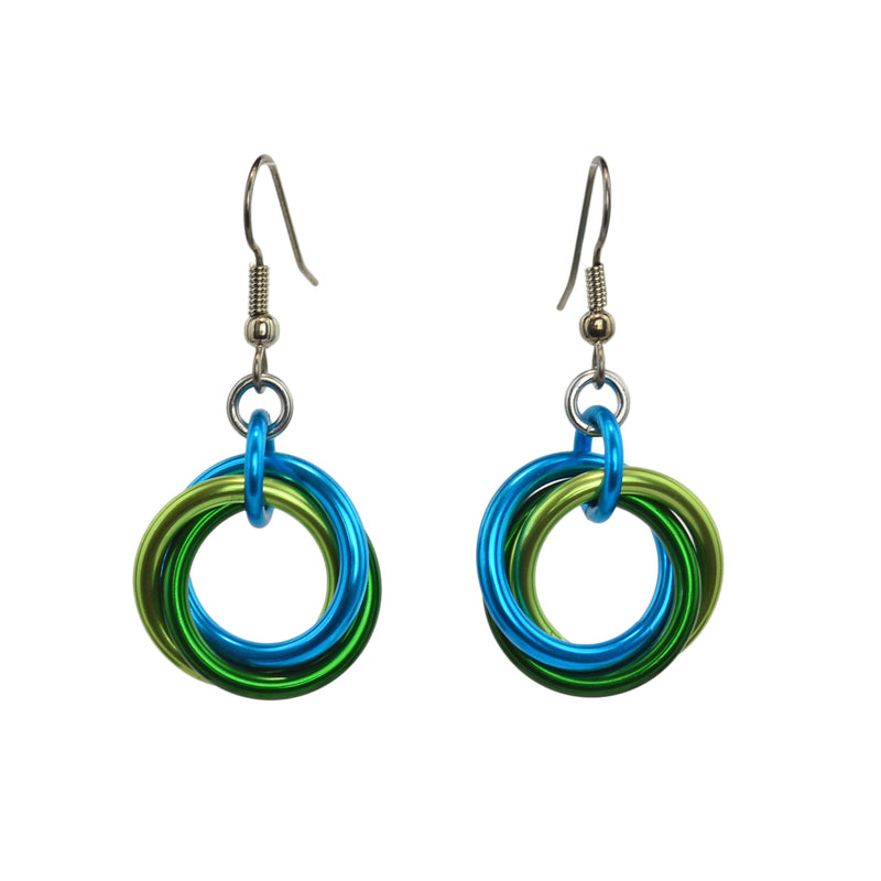 Large Knot Earrings - Enchanted Forest