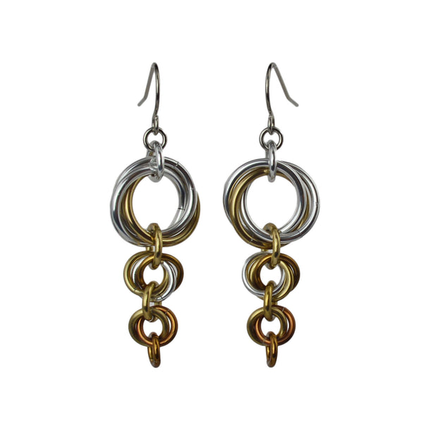 Comet Earrings - Granite
