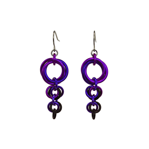 Comet Earrings - Purple Goth