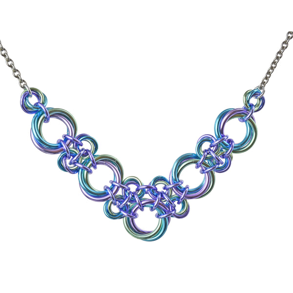 Knotted V Necklace - Cosmic Unicorn