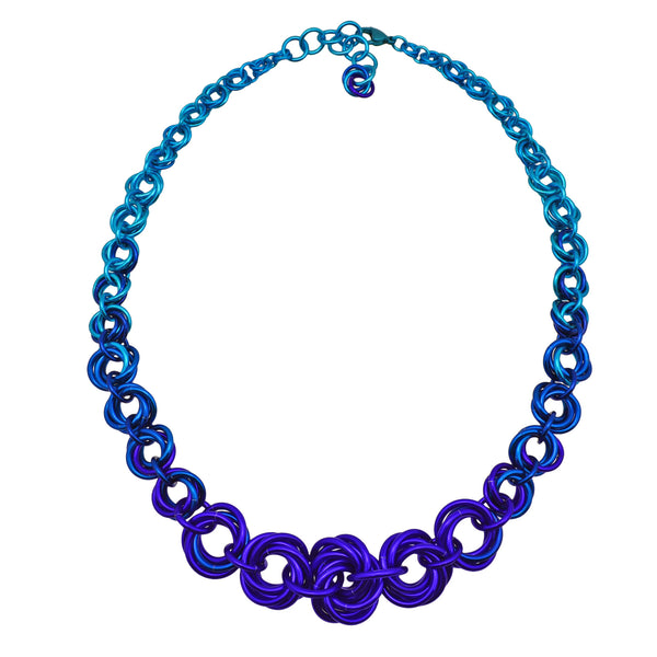 Knotted Graduated Necklace - Water Ombre