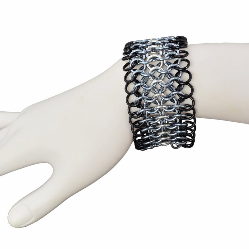 Wide Mesh Cuff - Industrial
