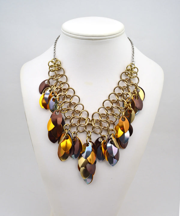 Warrior Necklace - Brown Metallic