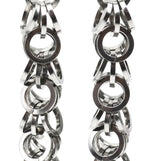 Steel Ruffles Earrings - Small Links