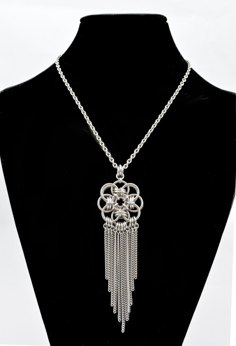 Quantum Rose MEDIUM Pendant with Fringe