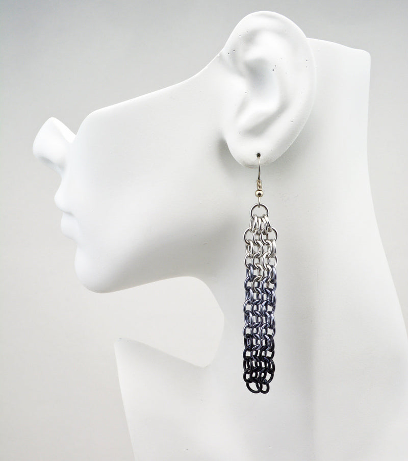 Waterfall Earrings - Industrial Ombre
