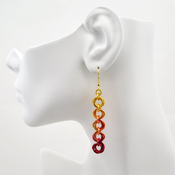 5-Knot Earrings - Flame
