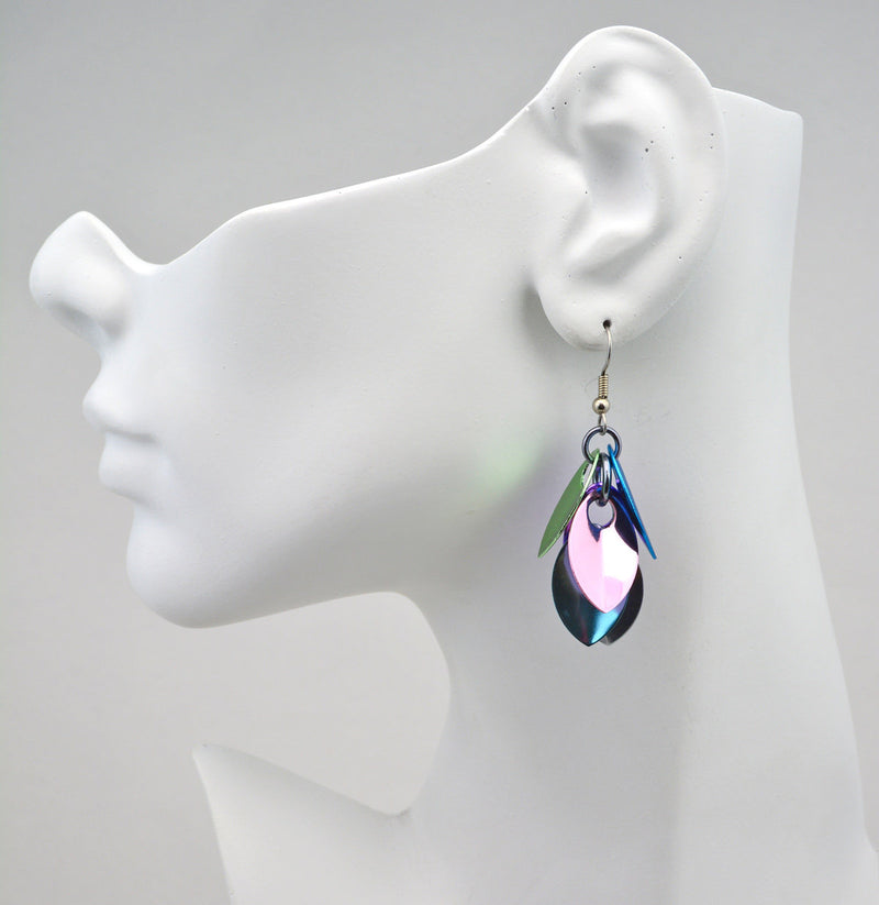Cascading Leaves Short Earrings - Cosmic Unicorn