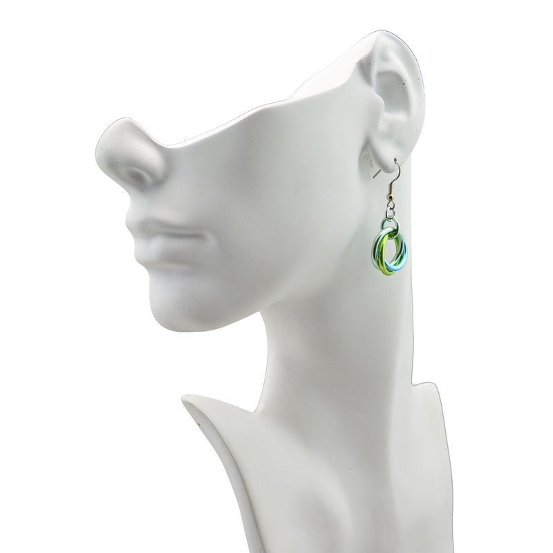 Large Knot Earrings - Absinthe