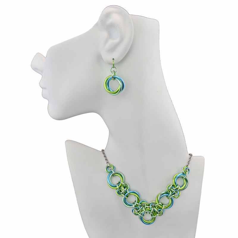Knotted V Necklace - Absinthe