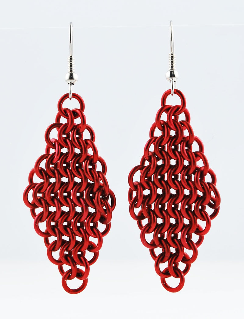 Mesh Diamond Earrings