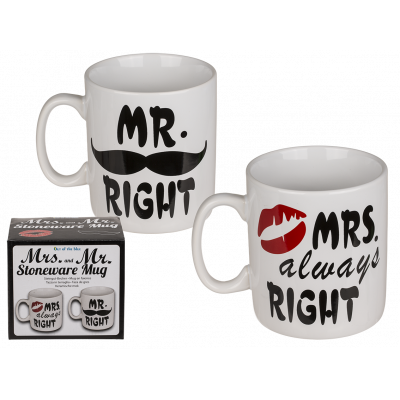 Skodelici Mr. Right ali Mrs. Always Right - Drugačna darila