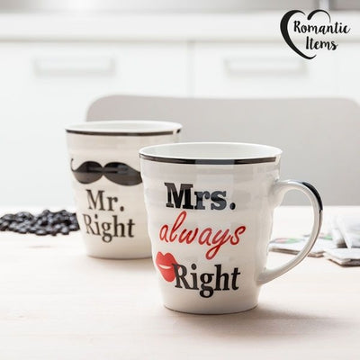 Skodelici Mr. Right & Mrs. Always Right - Drugačna darila