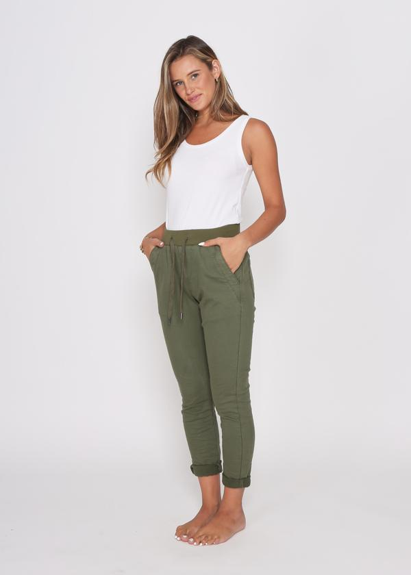 Monaco Denim Riley Joggers - Khaki