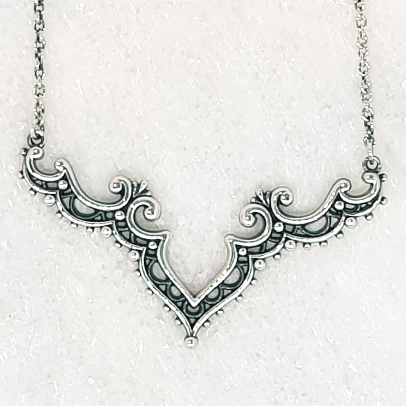 Sterling Silver Antique Arches Choaker