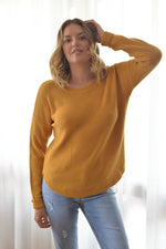 Zip back jumper - Mustard