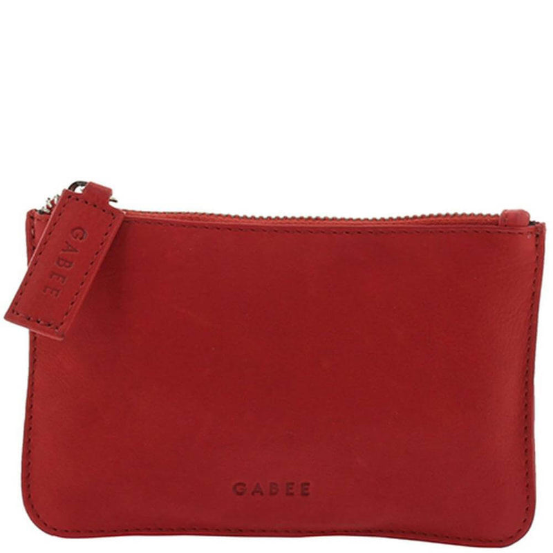 Soft Leather, Small Pouch, Red