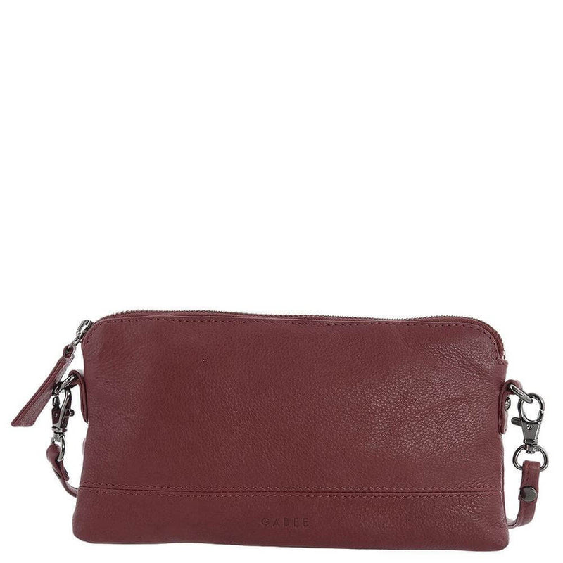 Small, Soft Leather, Crossbody Handbag-Wine